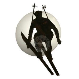 настенное бра лыжник