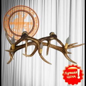 Настенное бра 2 из рогов оленей